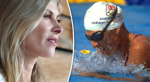 Sharron Davies - in and out of the pool